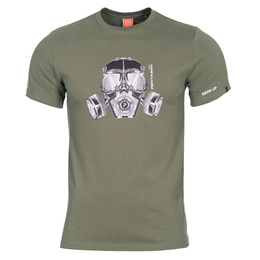 T-shirt Ageron Gas-Mask Pentagon Oliv Nowy