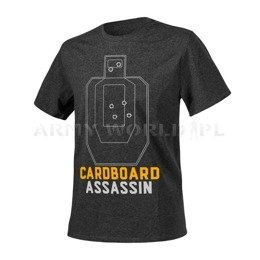 T-shirt Helikon-Tex Cardboard Assassin Melange Black-Grey