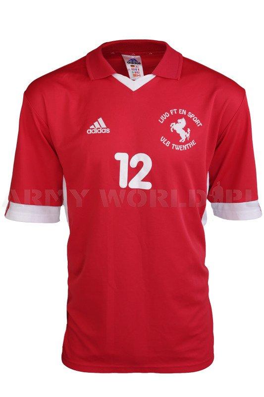 ponadczasowy design Hurt wyprzedaż resztek magazynowych Koszulka Polo ADIDAS Czerwona Oryginał Demobil   ODZIEŻ \ T ...