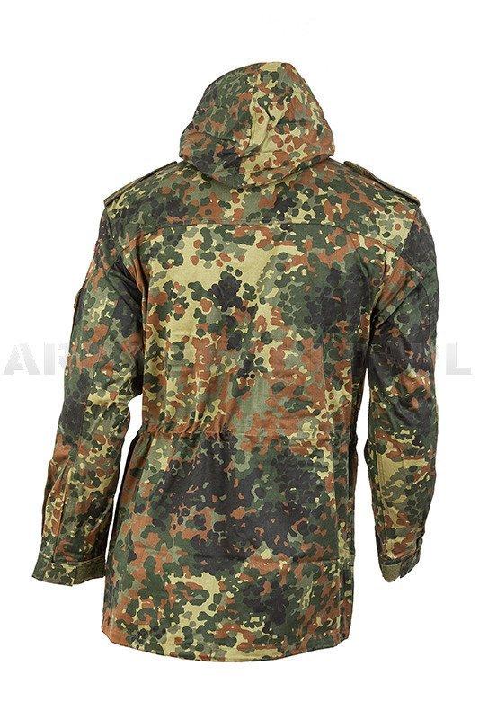 Wojskowa Oryginał 10 Nowa Kurtka Bundeswehr Flecktarn Zestaw Parka zgOad
