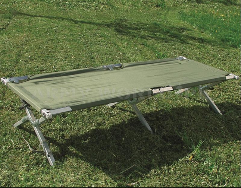 łóżko Polowe Us Army Aluminiowe Składane Mil Tec Demobil